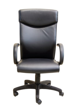 Black executive office chair in white background